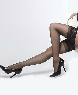 Plus Size Sheer Stockings With Lace Top One Size and Queen 3 Colours