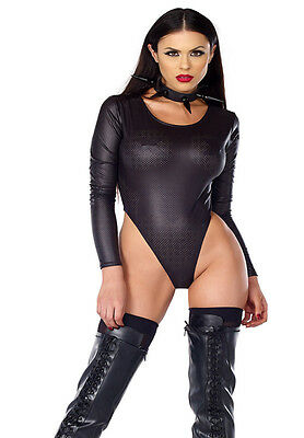 High Cut Perforated Body Suit