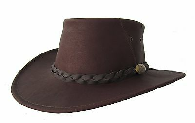 Jacaru Suede Leather hat Australian made for golf sport Brown