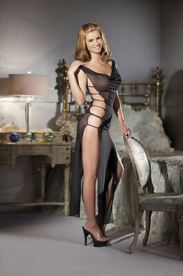 Translucent Sheer mesh full-length gown One Size and Queen