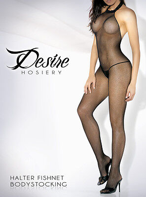 High Neck Halter Bodystocking One Size and Queen