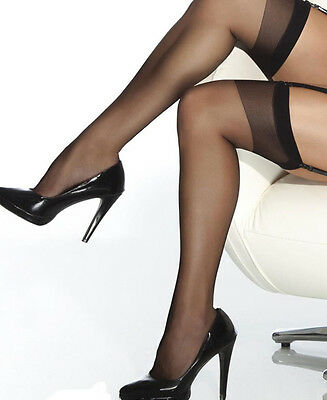 Sheer thigh high stockings. One Size and Queen