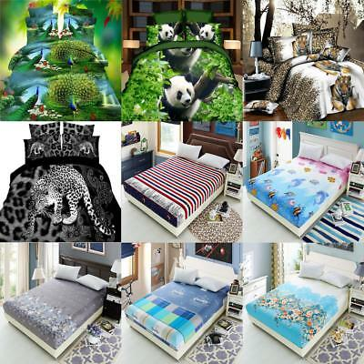 Various Bedspread Mattress Bedding Cloth Cover Fitted Quilt Sheet Pillow Case