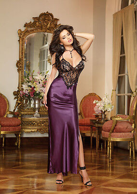 Stunning Satin and Lace Full Length Bias Cut Gown 8461 More Colours