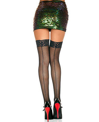 Fishnet Backseam Stockings One Size and Queen 3 Colours