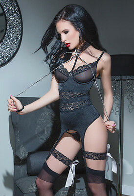 Stretch Bustier With Mesh Underwire Cup.... Small, Medium and Large