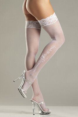 Sheer Lace-top Stockings