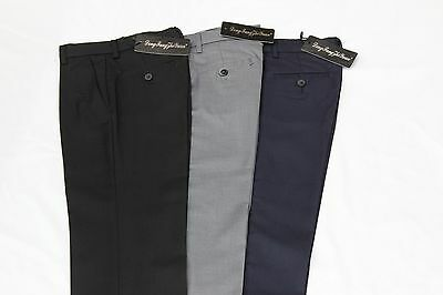 Boys' formal trousers / pants - BLACK - NAVY - LIGHT GREY - School, Party, Event