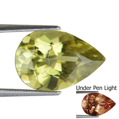 5.92Cts Natural Turkish Diaspore Colour Change Genuine Gemstone Pear
