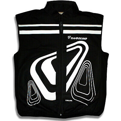 TwoZero Verso Motorcycle Bike Motobike Cycle Gilet Black Reflective Logo