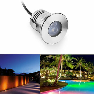 10PCS 3W 12V Underwater Pond Waterproof IP68 Spotlight Light LED Pool Yard Lamp