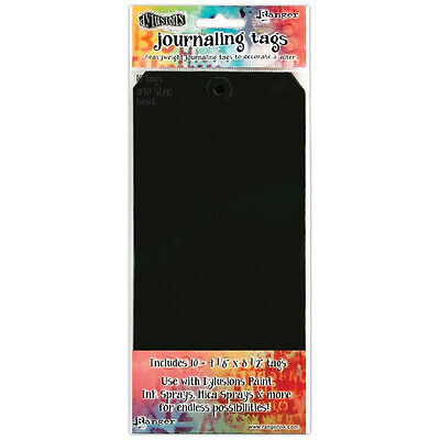 Dylusions Journaling Tags - Size 10 Black