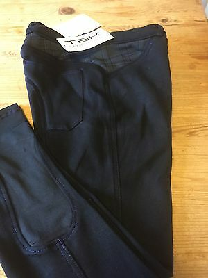 Ladies TBK Breeches Size 28 Inch Black With Contrast Trim