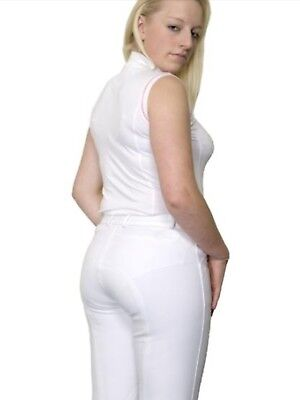 Ladies TBK Women's Competition Breeches Size 26 Inch White SALE