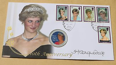 Princess Diana 10Th Anniv 2007 Buckingham Cover Signed Lady Sarah Mccorquodale
