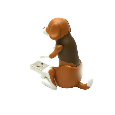 New Funny Cute pet USB Humping Spot Dog Toy Christmas Gray