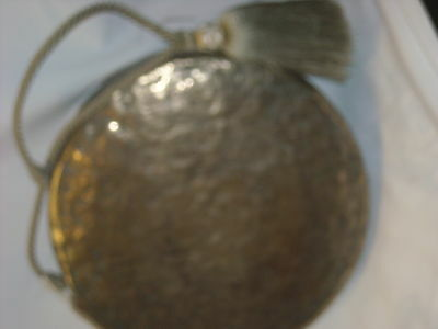 Bronze gong  with silk cord