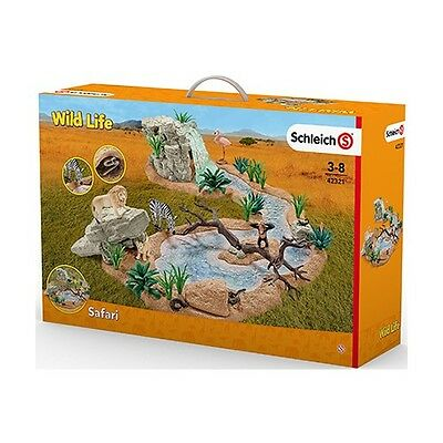 New Schleich Wild Life Big Adventure at the Waterhole Watering Hole Africa 42321