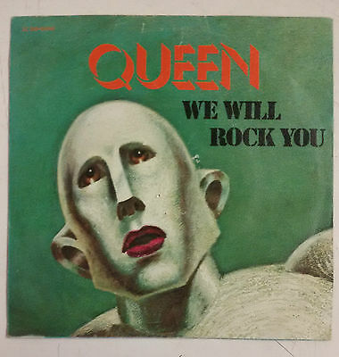 "Queen We Will Rock You Single 7"" Francia 1977"