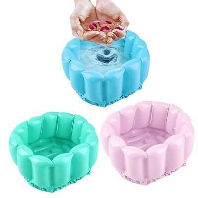 W~Foot Feet Soak Bath Inflatable Basin Wash Spa Home Use Pedicure Care Relax#
