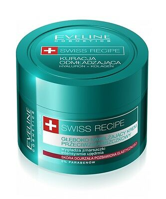 Eveline ! SALE ! Swiss Recipe Cream Deep Wrinkle Moisturizing Day Night 50ml