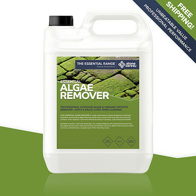Stonecare4u Essential Algae Remover 5L - seasonal cleaner eliminates algae/moss