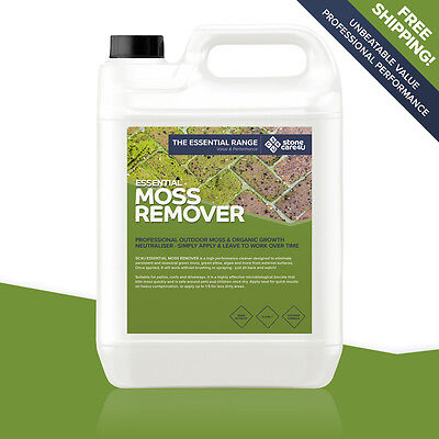 Stonecare4u Essential Moss Remover 5L - Powerful cleaning & long-term protection