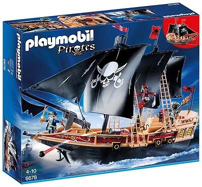 Playmobil 6678 Large Floating Pirate Raiders' Ship with 3 Pirates New Sealed