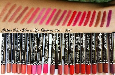 NEW Golden Rose Dream Lips Lipliner High Quality Pencils 26 Long Lasting Colors