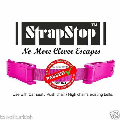 New Pink Strap Stop™ Kids Baby Car Seat Safety Harness Chest child Straps Child