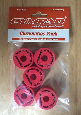 Cympad Chromatic Replacement Cymbal Stand Felts In Red Pack Of 5