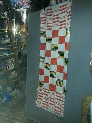 Kente Cloth Authentic Handwoven Traditional Ghana Large Cloth 3 x 5ft