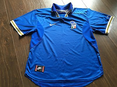 Italy Euro 1996 Nike Football Shirt Soccer Jersey Size Xl Great Condition