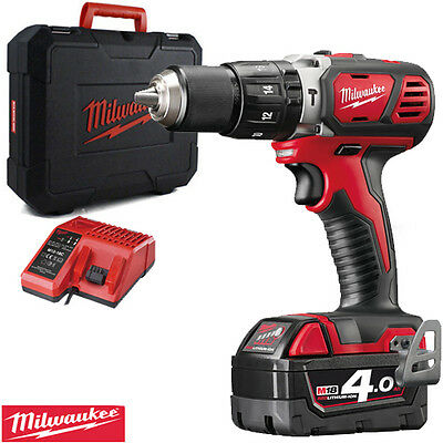 Milwaukee M18BPD-0 18V Combi Hammer Drill With 1 x 4.0Ah Battery, Charger & Case