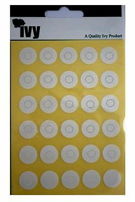 IVY Page Reinforcing Rings Punched Hole Stickers Circles Self Adhesive Labels