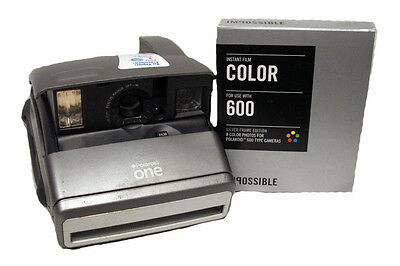 Polaroid One600 Camera with Impossible 600 Film Silver Borders