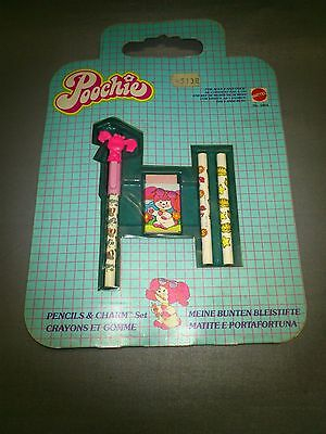 Pencils And Charm Set -- Poochie Nº 5864 -- Mattel --- 1982 - New (Old Stock)