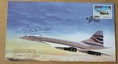 Concorde Queen Of The Skies 2007 Buckingham Cover Signed By Pilot Peter Baker