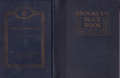 1922 Brooklyn Blue Book And Long Island Society Register Hard Cover Very Good