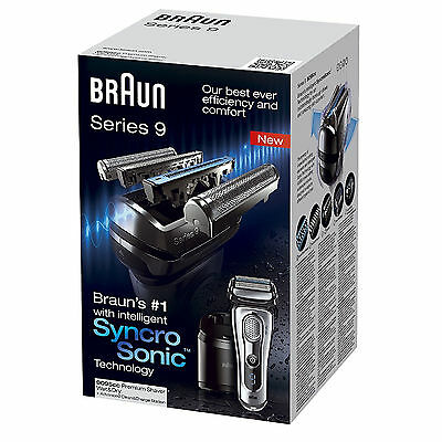 Braun Series 9 Syncro Sonic Men's Electric Foil Shaver Wet Dry with Clean