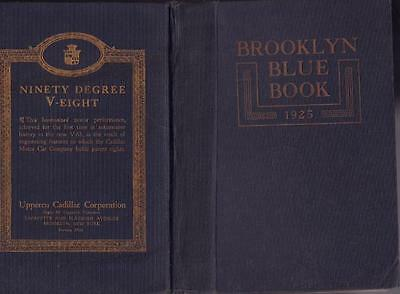 1925 Brooklyn Blue Book And Long Island Society Register Hard Cover Very Good