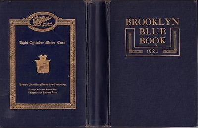 1921 Brooklyn Blue Book And Long Island Society Register Hard Cover Very Good