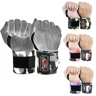 Wrist Weight Lifting Training Gym Straps Support Grip Glove Body Building