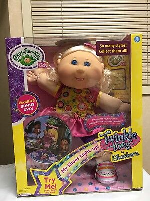 Cabbage Patch Kids Twinkle Toes Sketchers Blonde Hair Blue Eyes Braces Girl Doll