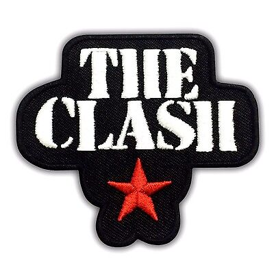 THE CLASH Punk Rock Music Band Embroidered Patch Red Star Iron On Logo London