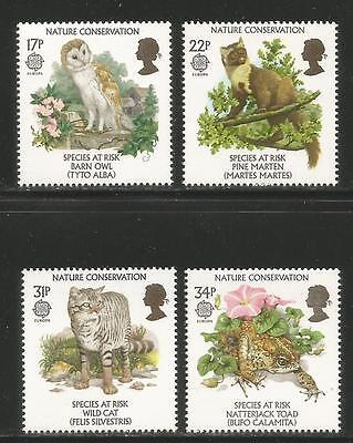 Great Britain 1986 Europa/Conservation--Attractive Topical (1141-44) MNH