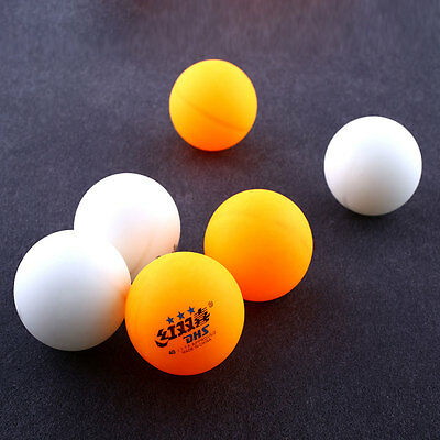 6Pcs 3 stars DHS 40MM Tennis Orange Yellow Ping Pong Balls Professional Durable