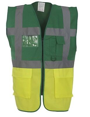 Medical Hi-Viz Vest / Waistcoat - Large Reflective Badge Rear - Your Custom Text