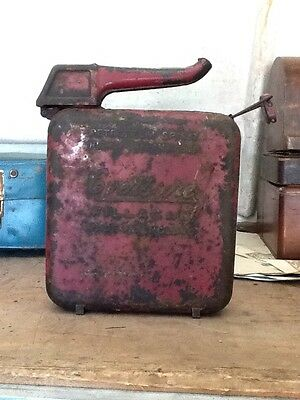 Eversure Fillacan Petrol Can Made in England 2 Gallon 1950s VINTAGE AUTOMOBILIA
