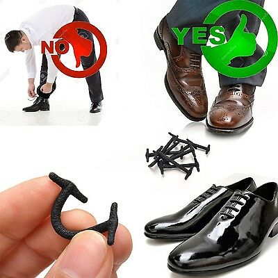 Silkies No tie shoelaces for dress shoes silicone elastic shoe strings oxford...